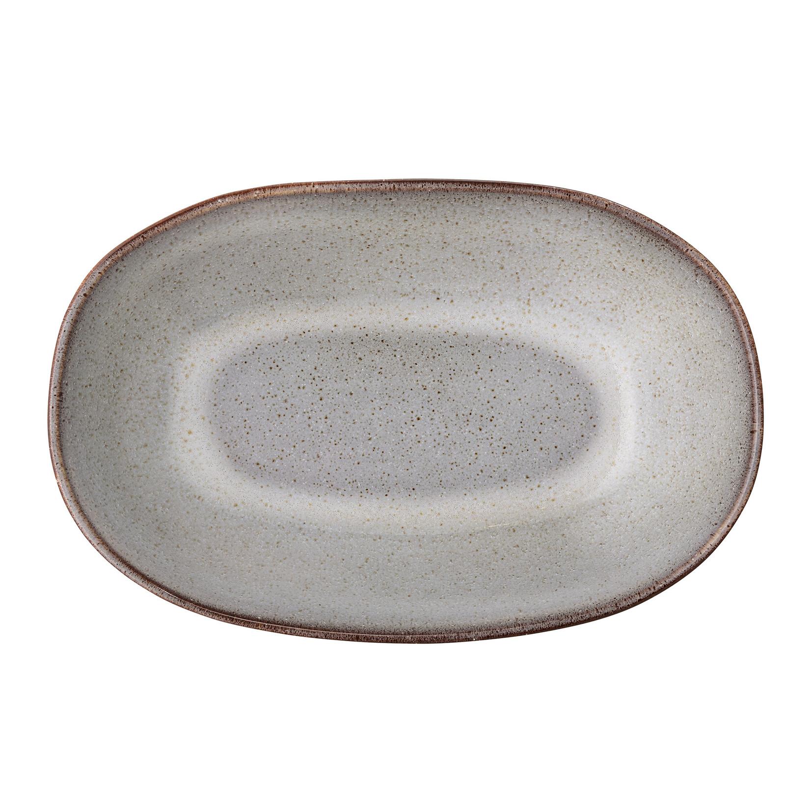 Bloomingville  Sandrine Serving Bowl, Grey, Stoneware