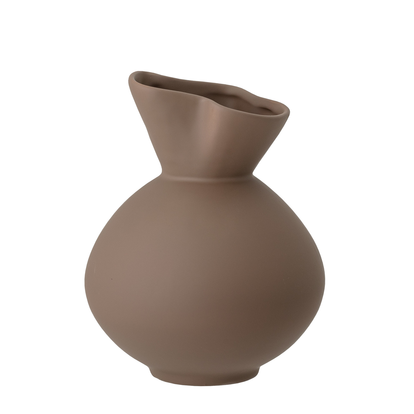 Bloomingville  Nica Vase, Brown, Stoneware