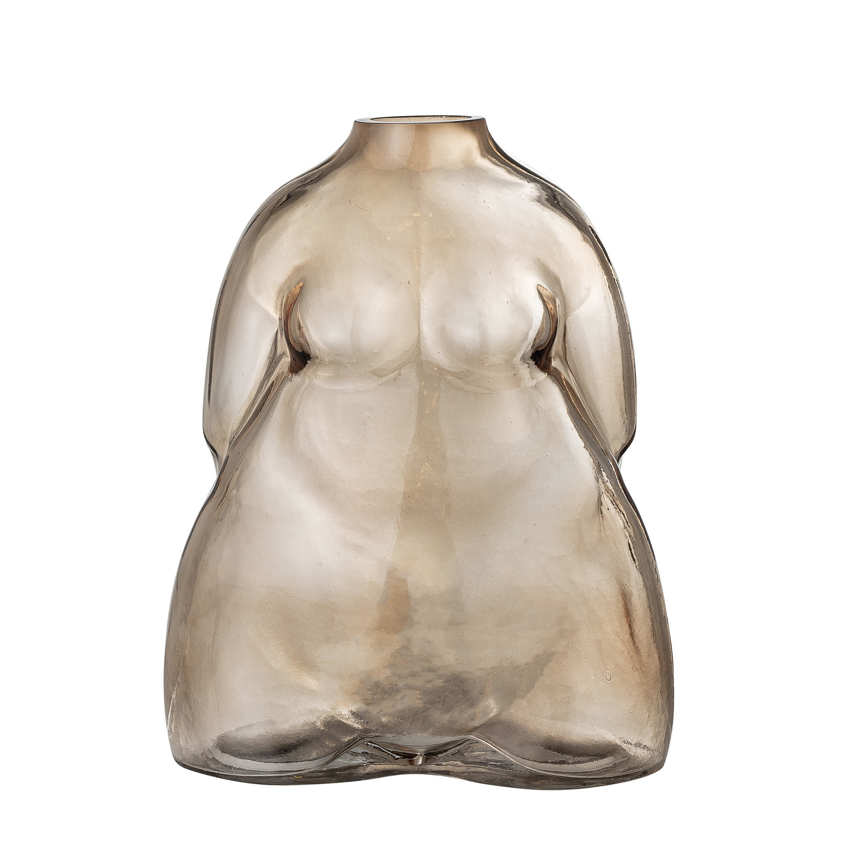 Bloomingville  Evie Vase, Brown, Glass