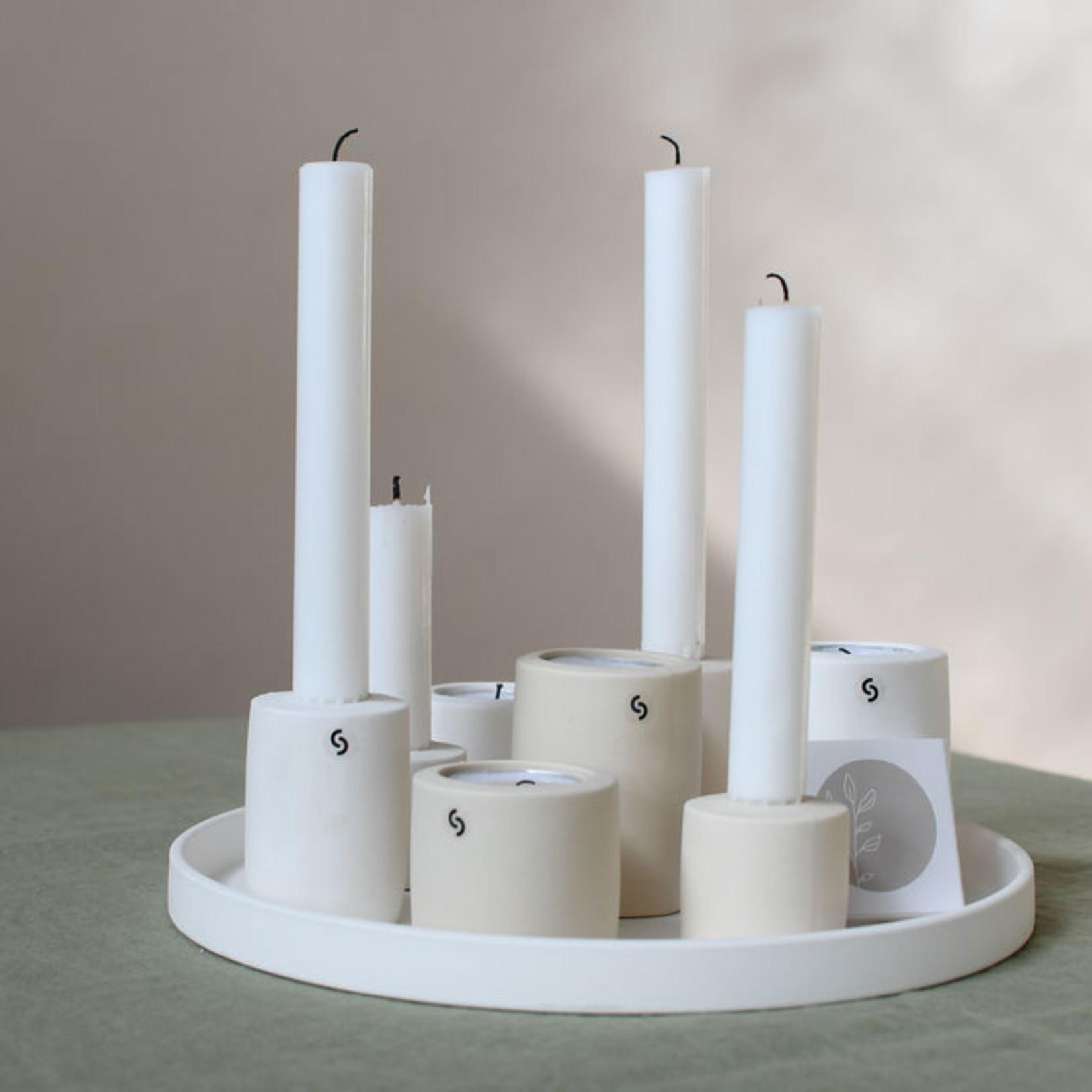 Storefactory  Kerzenständer Lekvall S weiß