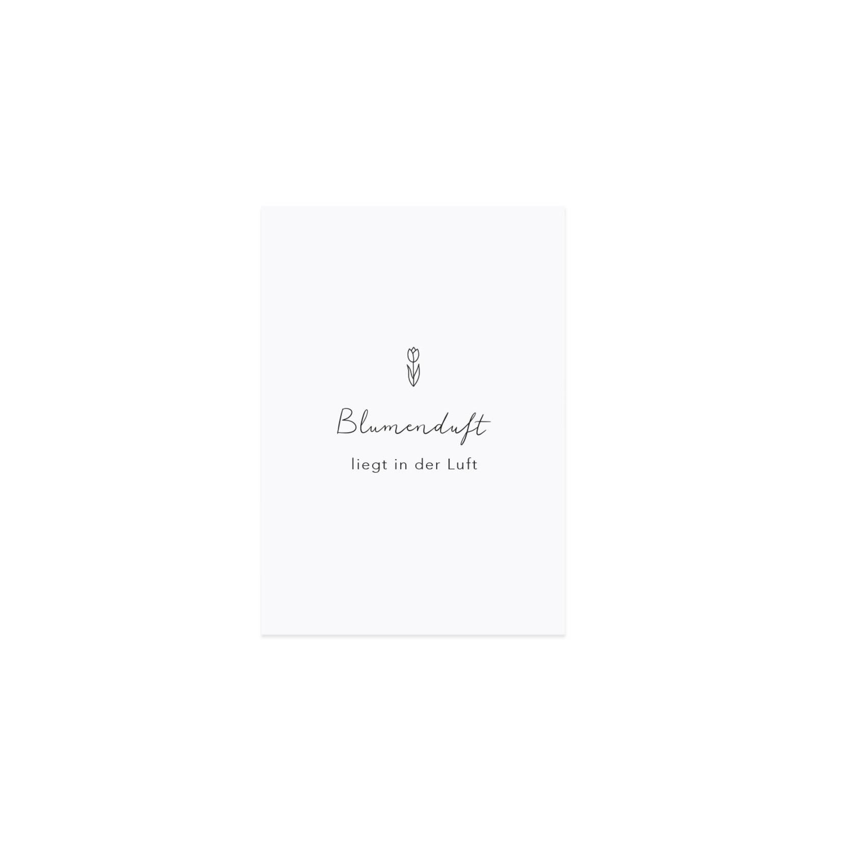 Eulenschnitt Spruchkarte Blumenduft