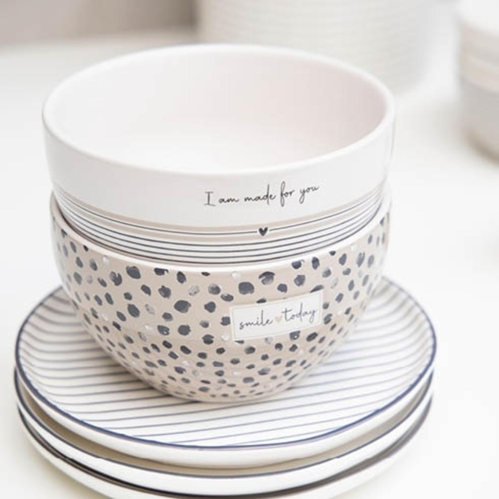 Bastion Collections Bowl Titane/Confetti Smile Today