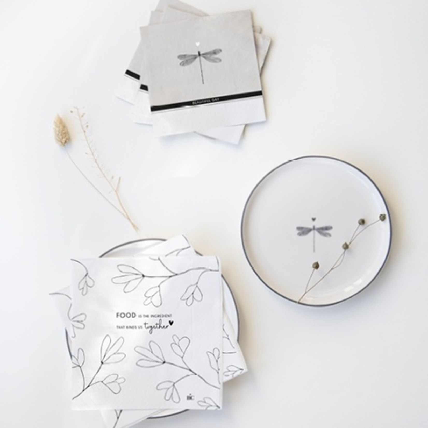 Bastion Collections Napkin Titane/Beautiful Day