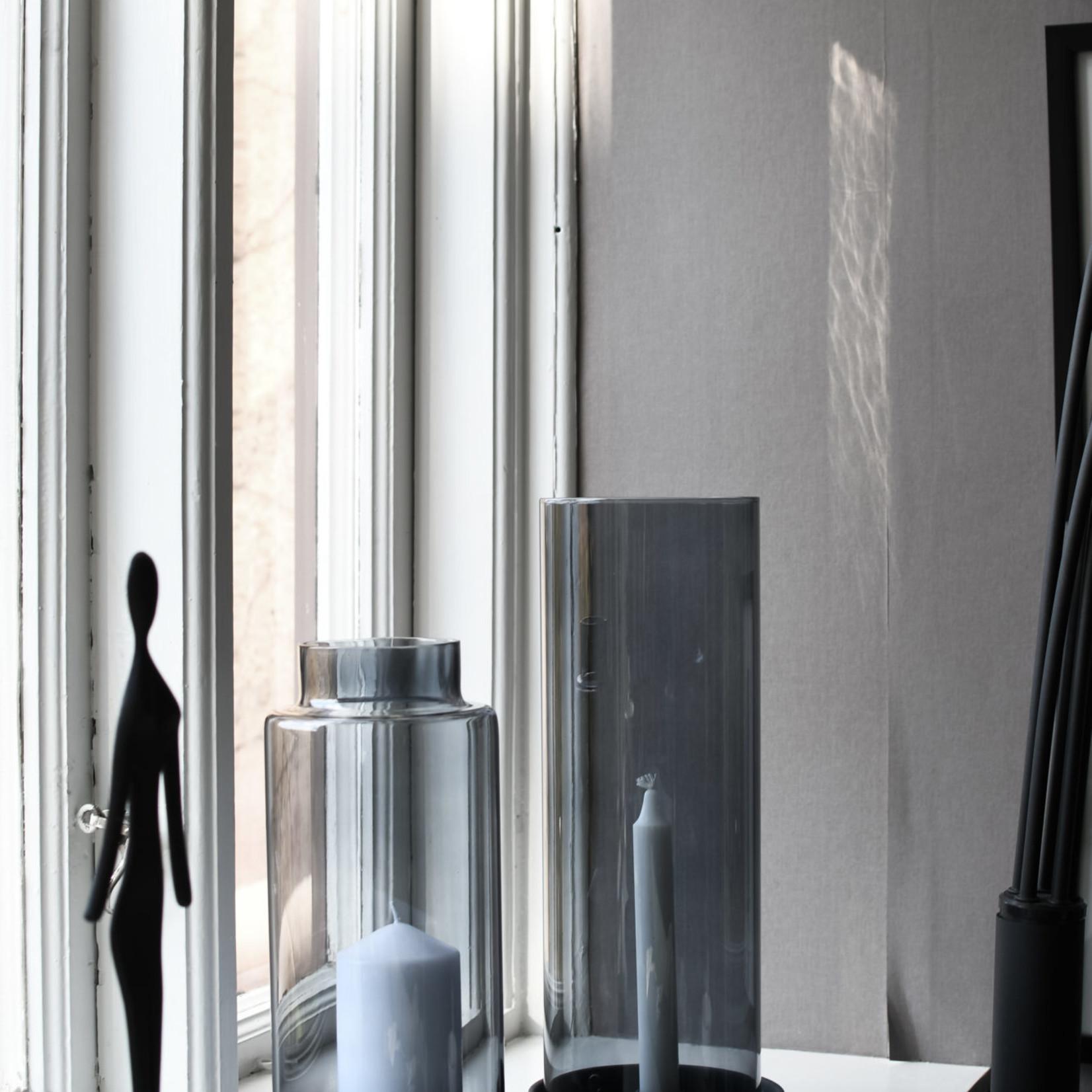 Storefactory  Grauer Glaszylinder mit Rand