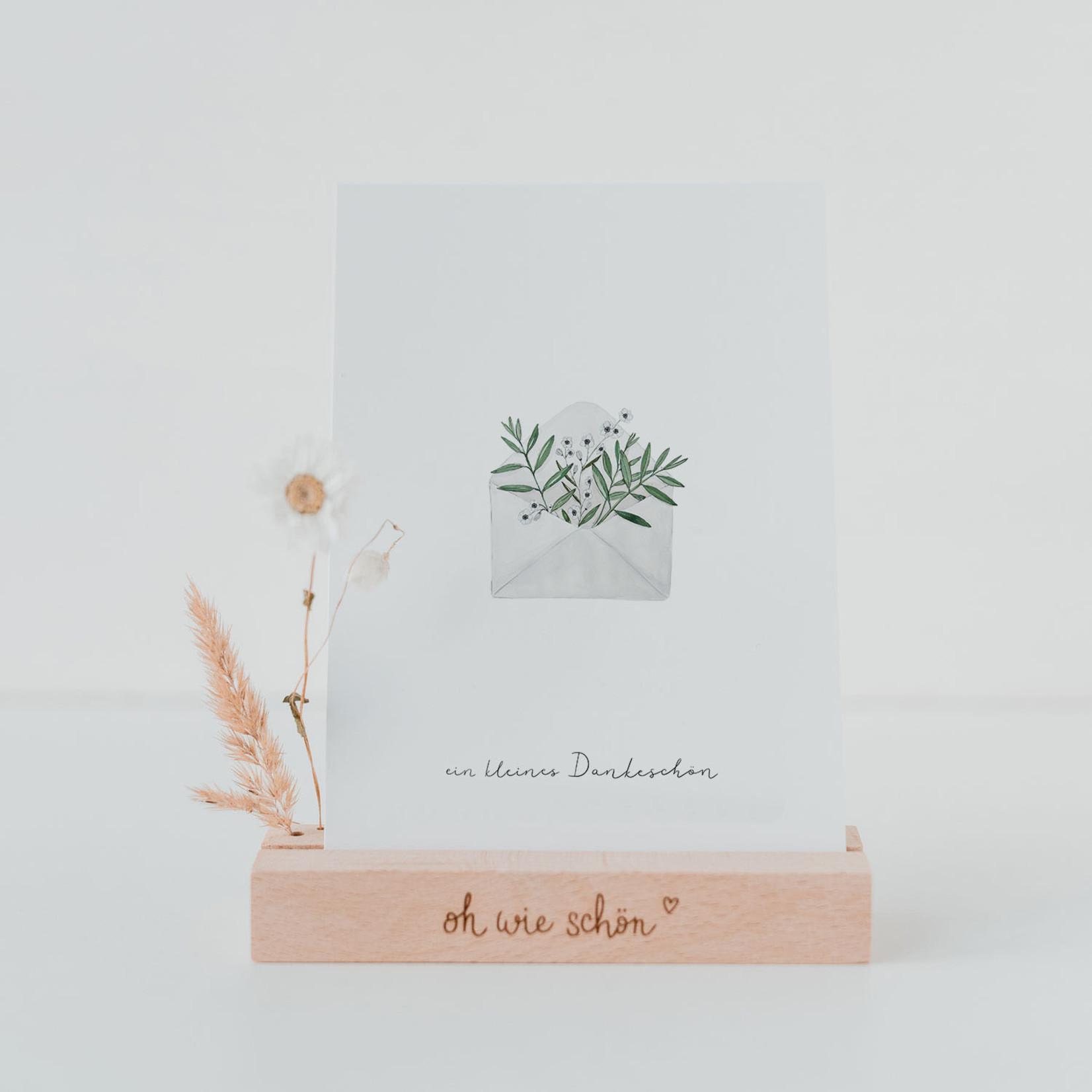 Eulenschnitt Dankeskarte Blumenumschlag