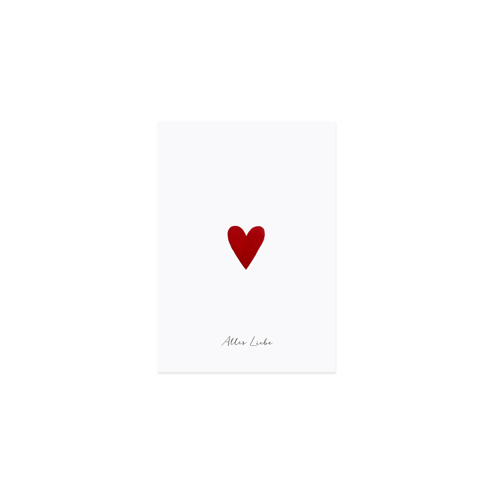 Eulenschnitt Glückwunschkarte kleines Herz