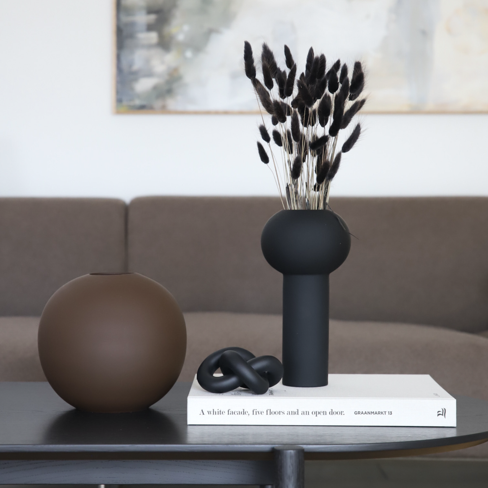 Cooee Design KNOT TABLE SMALL BLACK