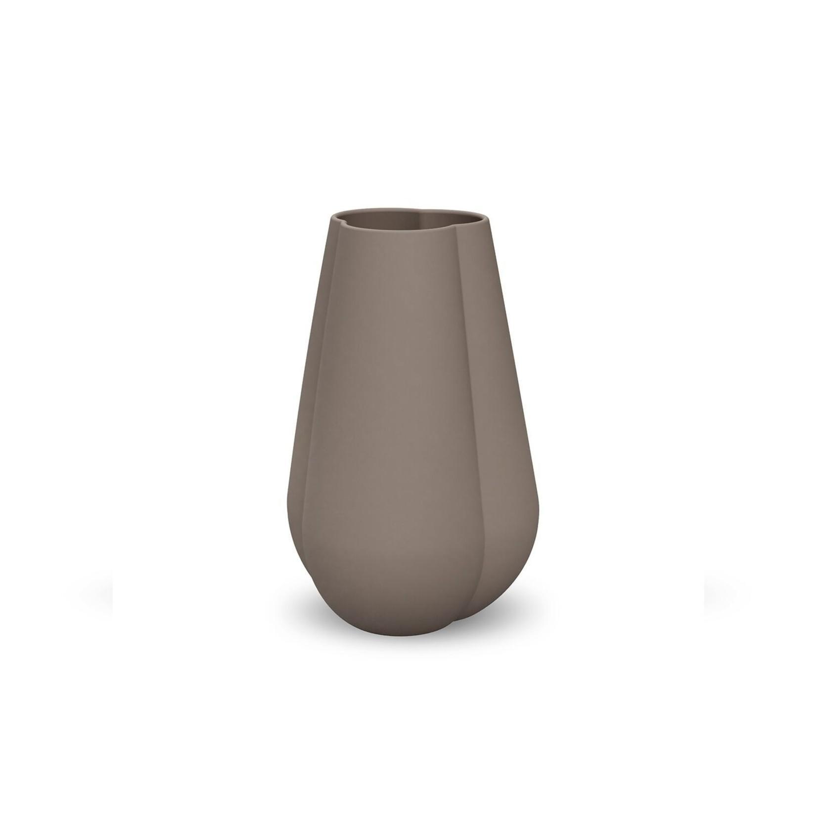 Cooee Design Clover Vase 18cm Mud