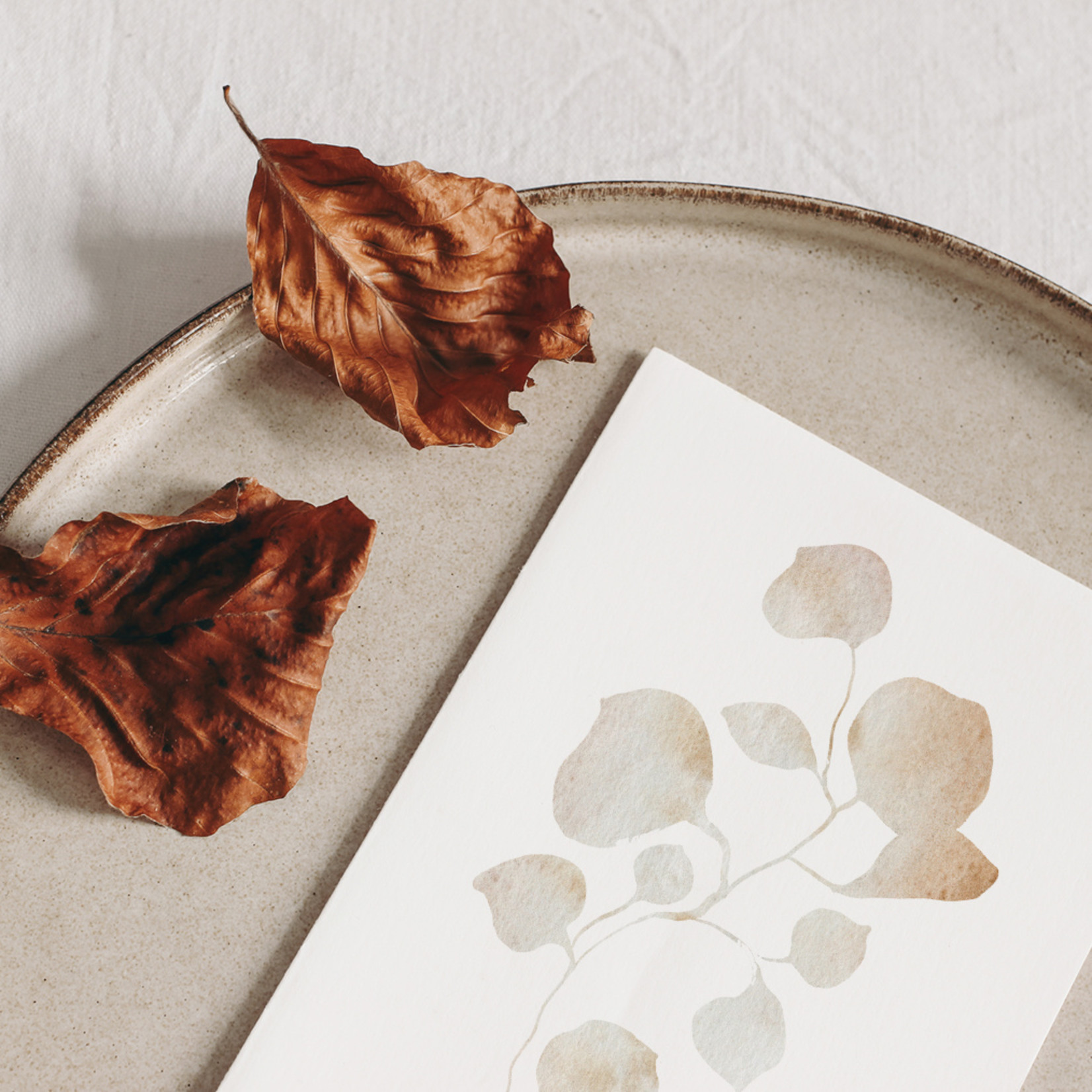 Jacqui Designs  Postkarte Texture Leaves