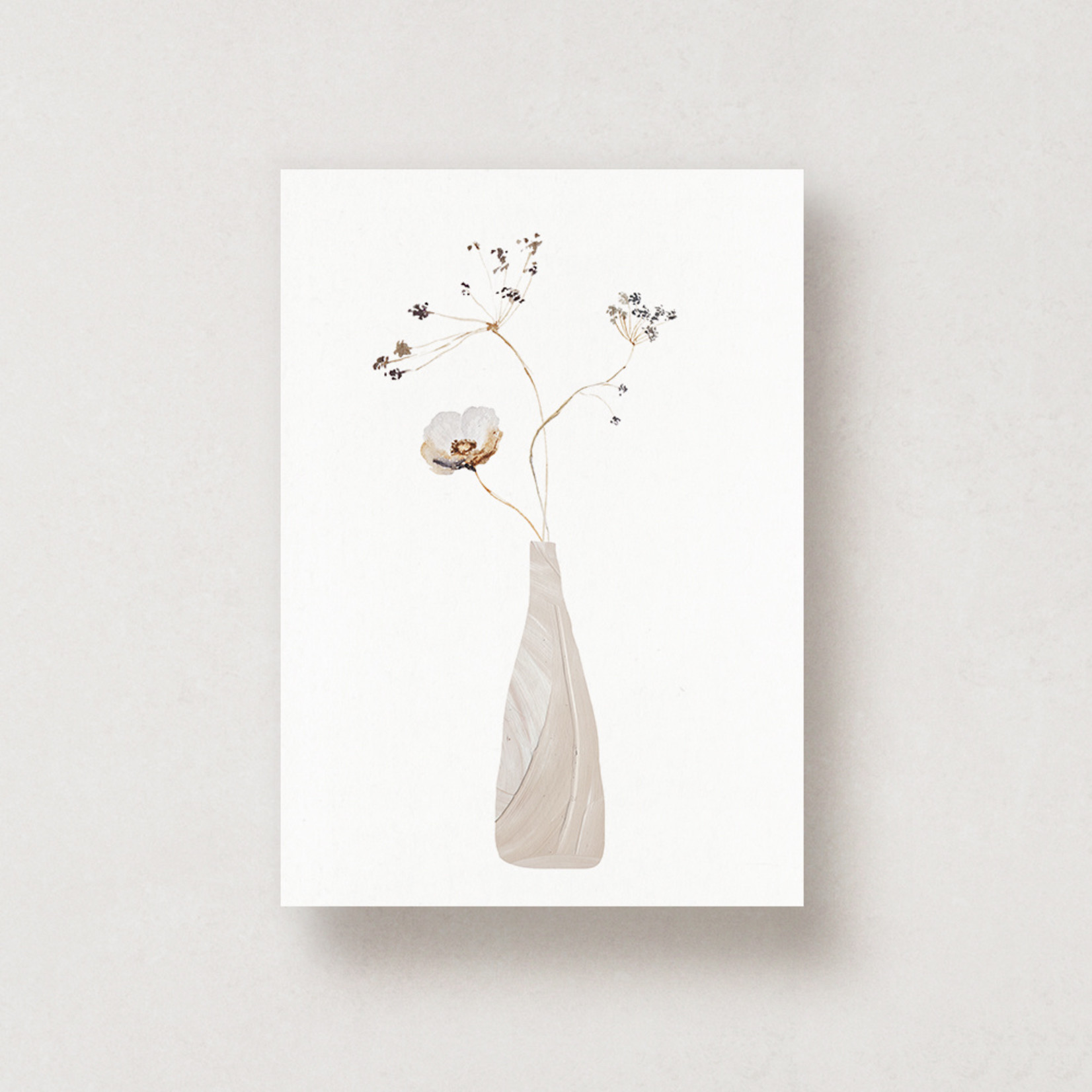 Jacqui Designs  Postkarte Dried Flowers in a Vase