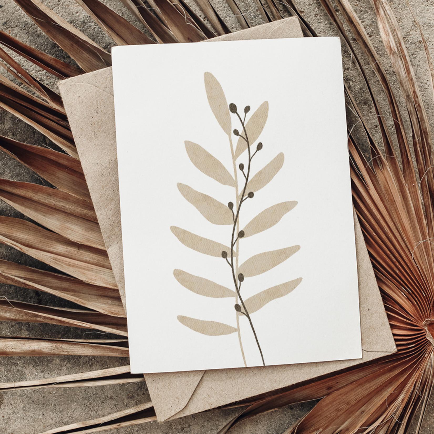 Jacqui Designs  Postkarte Two Plants