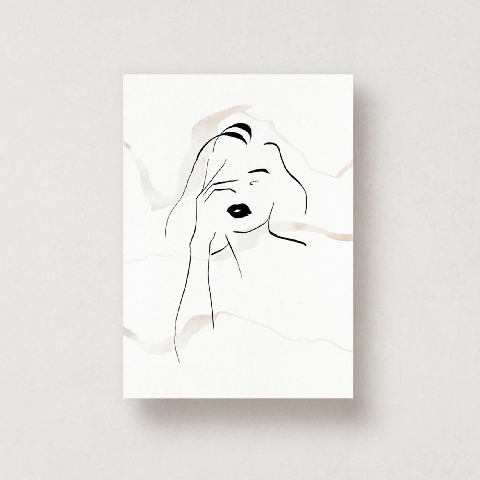 Jacqui Designs  Postkarte Femme