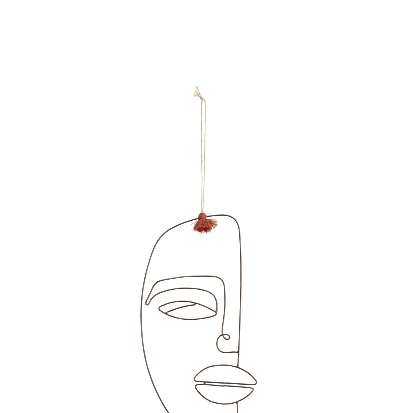 Madam Stoltz Iron Face hanging Ornament