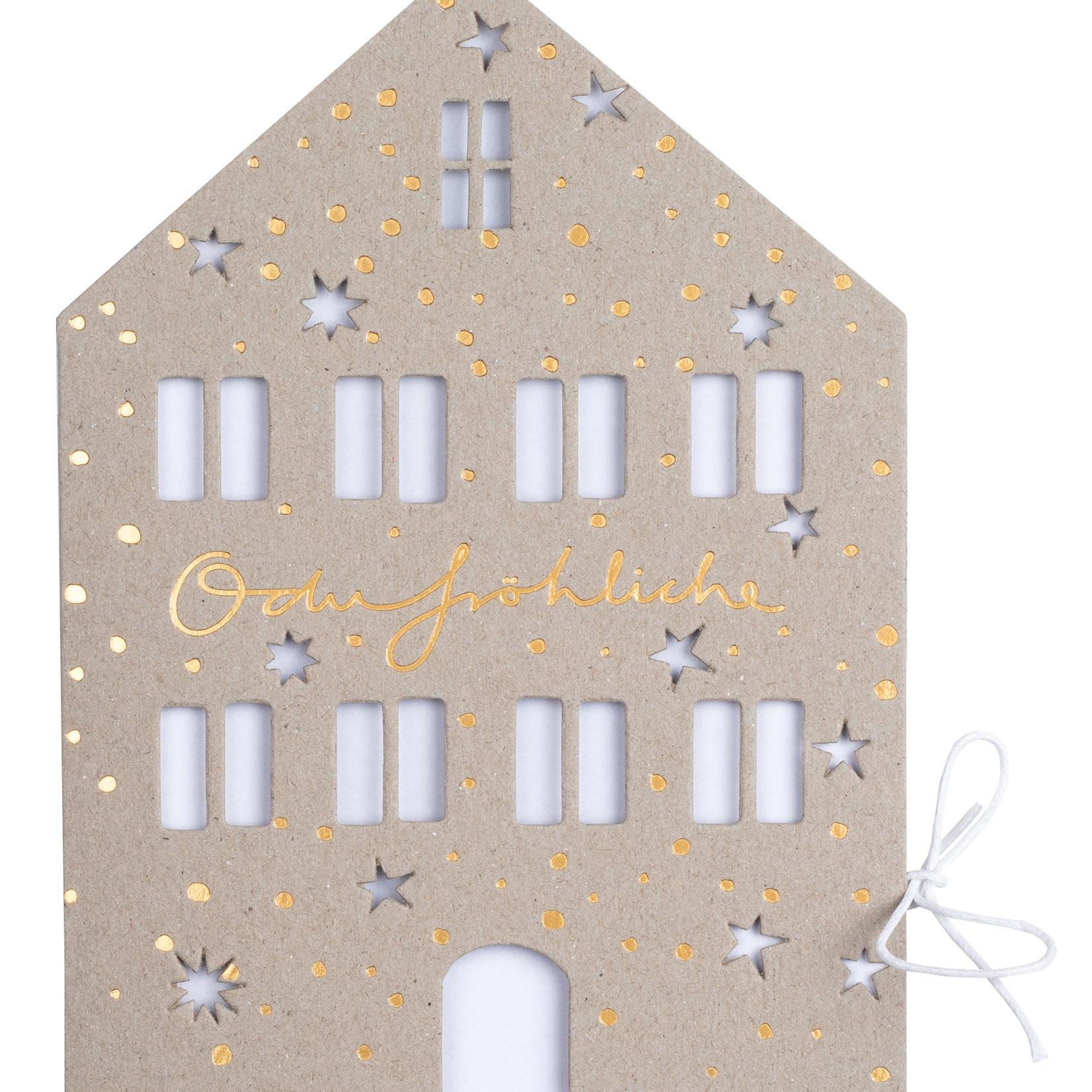 Räder Design Weihnachtshauskarte O du fröhliche