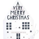 Räder Design Weihnachtshauskarte Merry X-Mas