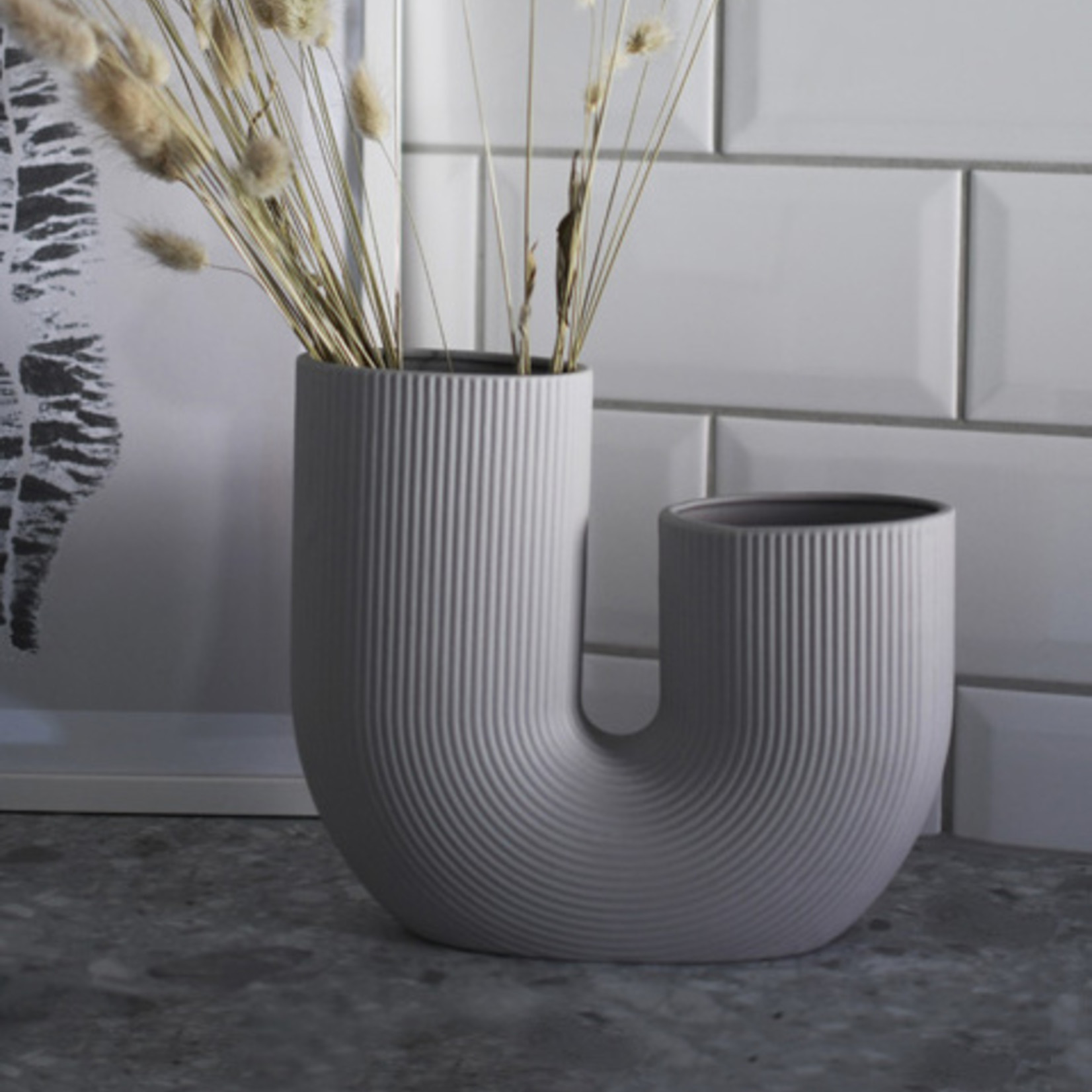Storefactory  Vase Stravalla grau