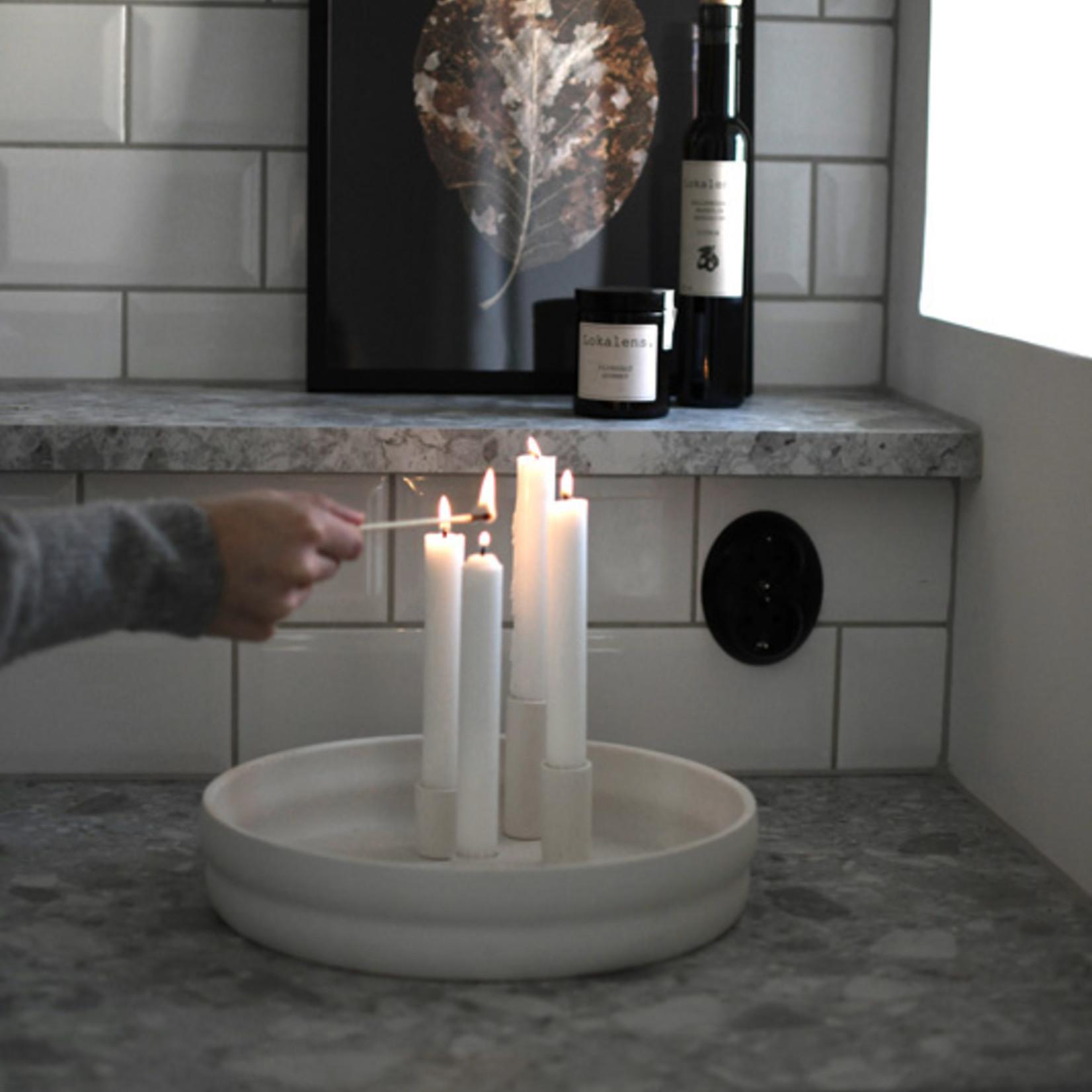 Storefactory  Kerzenständer Bolmen weiß