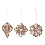 Bloomingville  Pearl Ornament, Brown, Polyresin