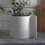 Storefactory  Vase Vassunda weiß S