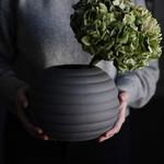 Storefactory  Vase runvik dunkelgrau