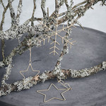 House Doctor Ornamente, Snowflakes & Stars, Gold