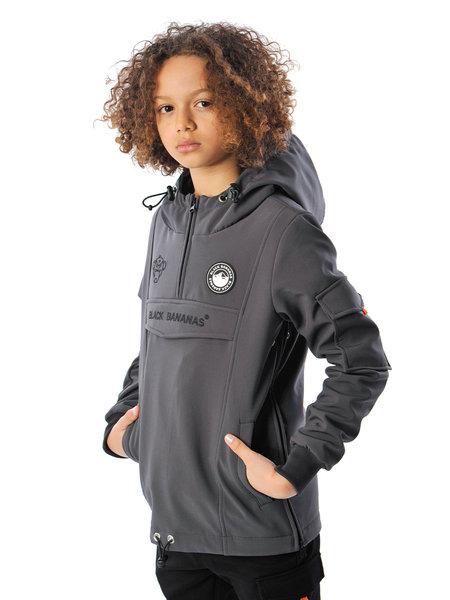Black Bananas Black Bananas Kids F.C. Anorak Fleece Jacket - Grijs