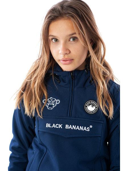 Black Bananas Kids F.C. Anorak Fleece Jacket - Navy