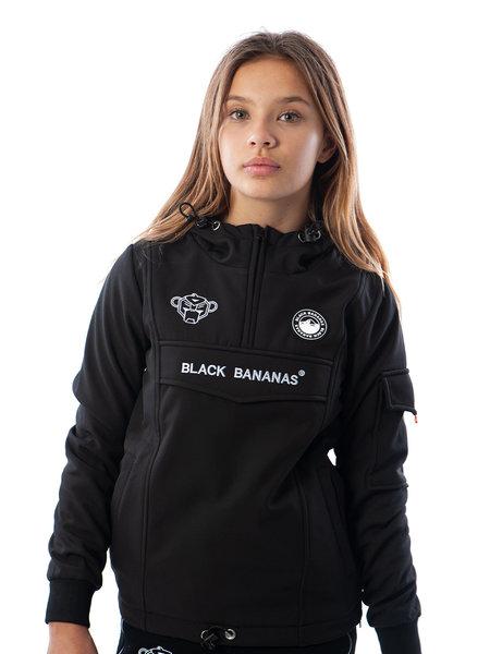 Black Bananas Kids F.C. Anorak Fleece Jacket - Zwart