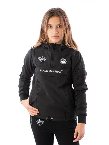 Black Bananas Black Bananas Kids F.C. Anorak Fleece Jacket - Zwart