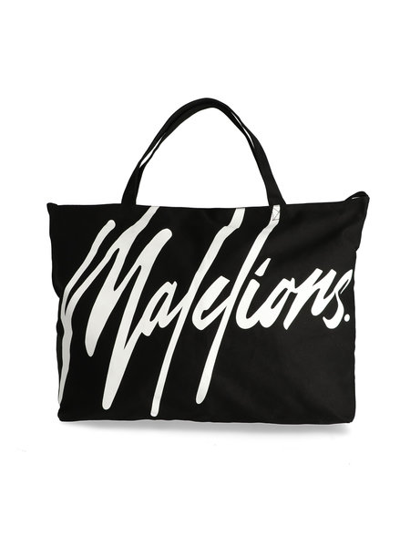 Malelions Strandtas - Zwart/Wit