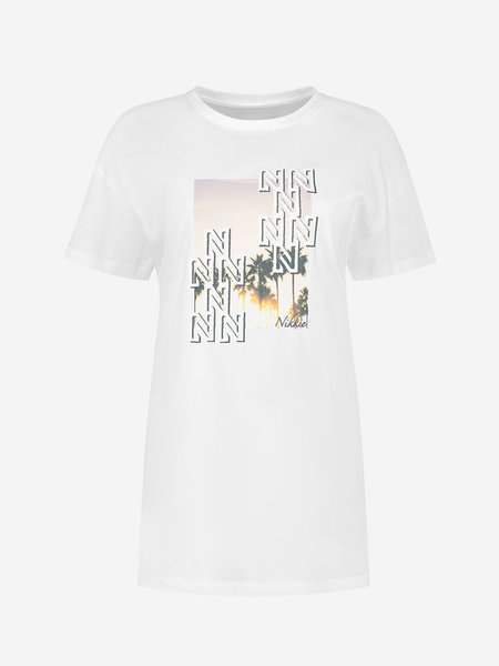 Nikkie Luxe Long T-Shirt - Wit