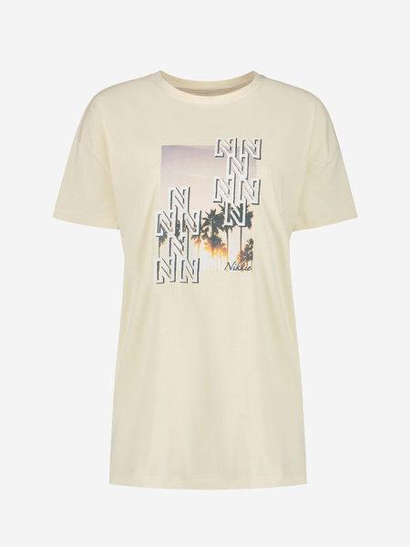 Nikkie Luxe Long T-Shirt - Beige