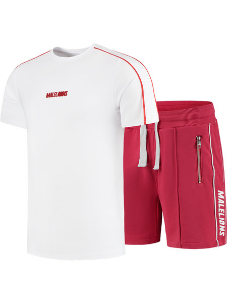 Malelions Twinset Thies - Wit/Rood