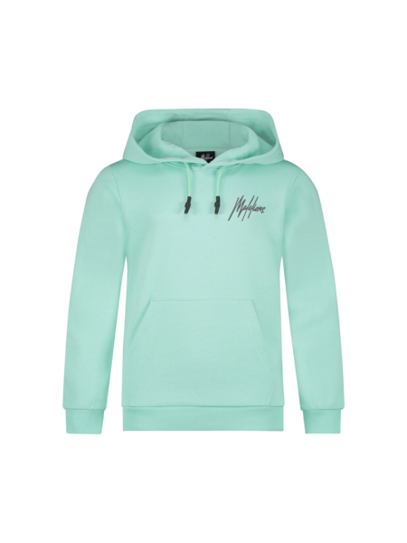 Malelions Malelions Kids Double Signature Hoodie - Mint/Antra