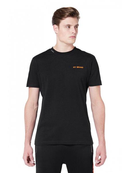 My Brand Tape T-Shirt - Zwart/Oranje