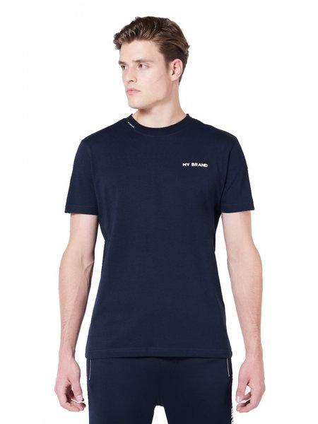 My Brand Tape T-Shirt - Blauw/Wit
