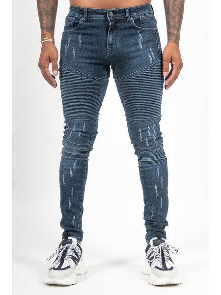 Malelions Biker Jeans - Donkerblauw