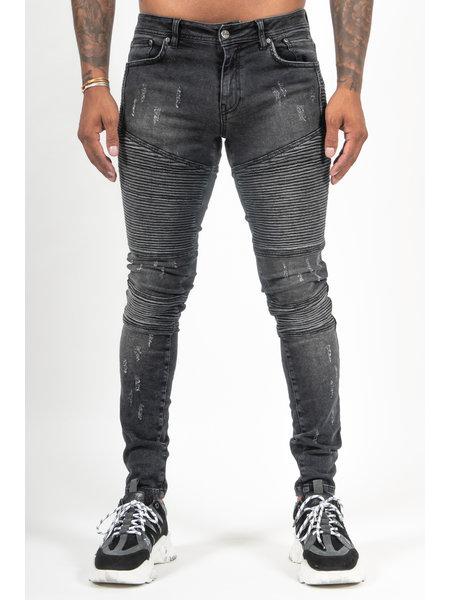 Malelions Biker Jeans - Zwart