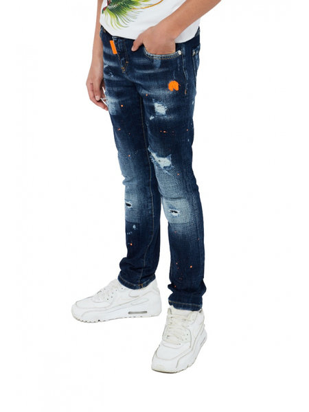 My Brand Kids Faded Ripped Jeans - Donkerblauw