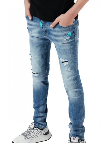 My Brand Kids Faded Ripped Jeans - Lichtblauw