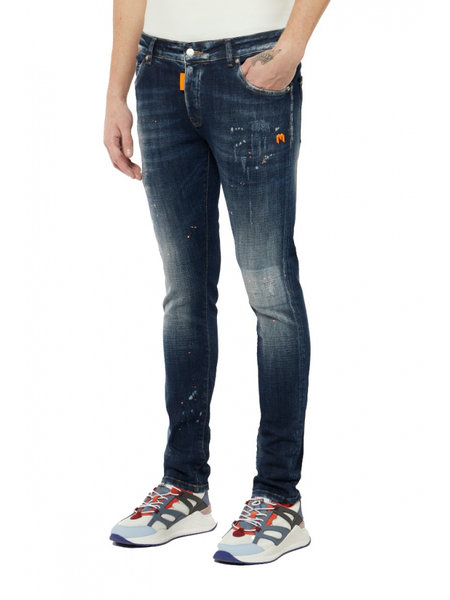 My Brand Distressed Jeans - Donkerblauw