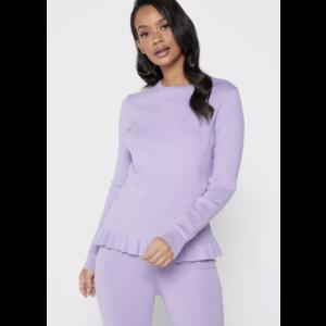 Na-kd NA-KD Knitted Long Sleeve Top - Lila