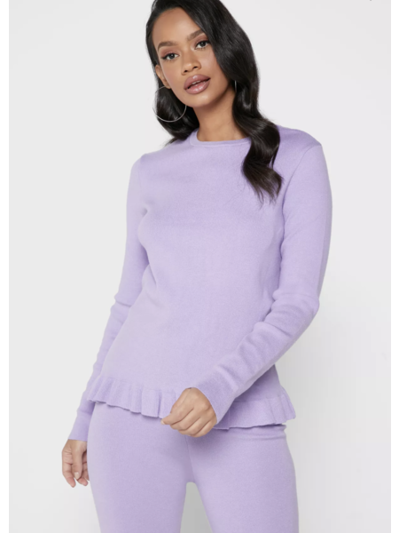 NA-KD Knitted Long Sleeve Top - Lila