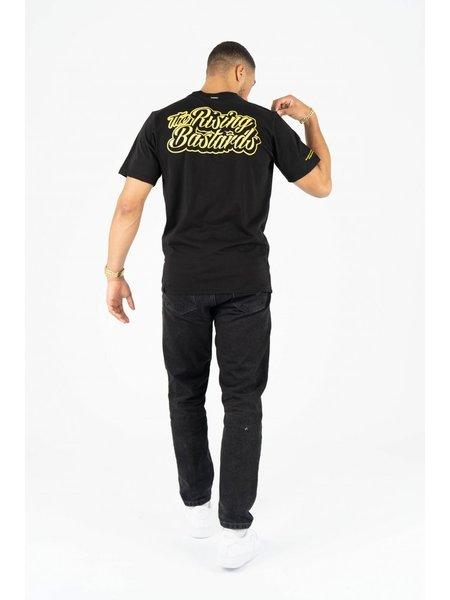 Quotrell The Rising Bastards T-Shirt - Zwart/Geel