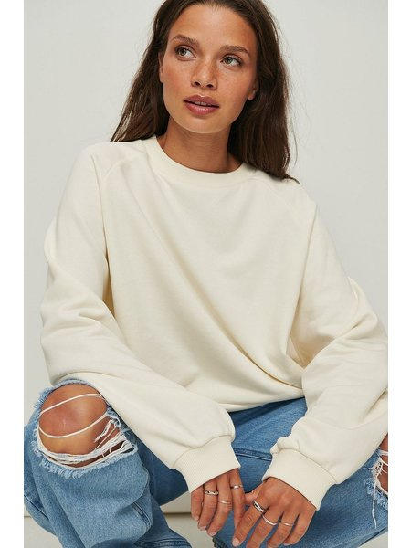 NA-KD Long Basic Sweater - Wit