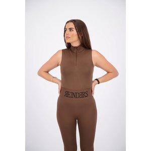 Reinders Reinders Turtleneck Short Sleeves Zipper Body - Dark Brown