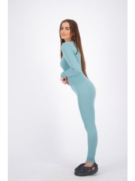 Reinders Reinders On Print Long Sport Legging - Mineral Blue