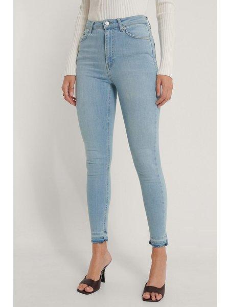 NA-KD High Waist Skinny Spijkerbroek - Lichtblauw