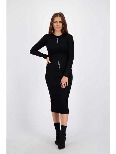 Reinders Livia Knitwear Rok - True Black