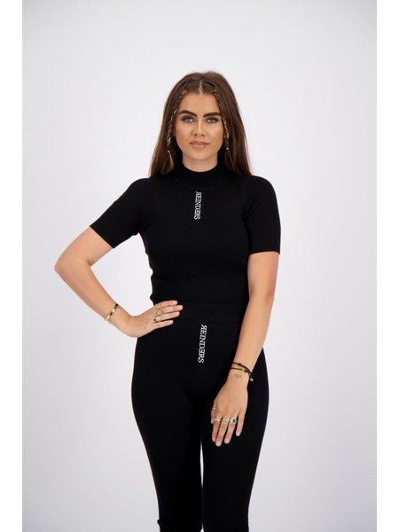 Reinders Livia Top Knitwear Short Sleeves - True Black